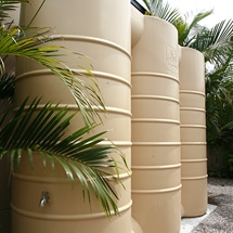 3000L slimline rainwater tank