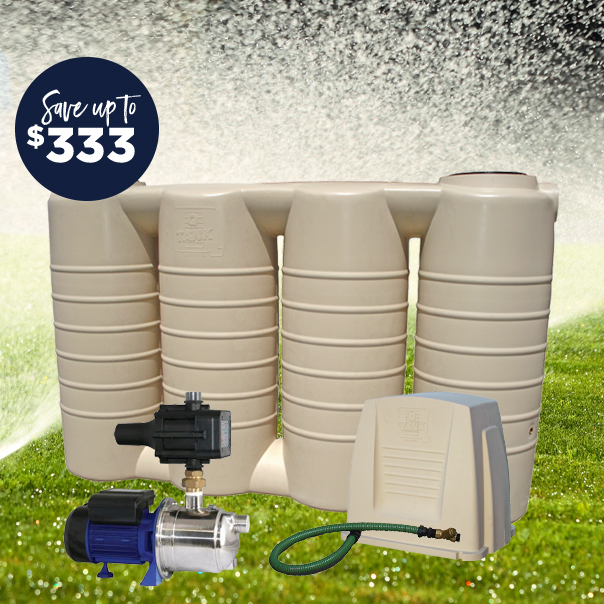 Slimline 2,500 Litre Water Tank and Pump Package